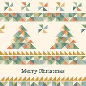 Vintage card with Christmas tree — Stock Vector