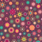 Summer floral pattern — Vecteur