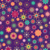 Summer floral pattern — Stockvector