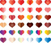 Colorful hearts set — Stock Vector