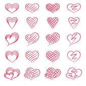 сердца для дизайна — Cтоковый вектор