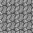 Black and white floral pattern — Image vectorielle