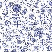 Färgglada sömlös blommönster — Stockvektor