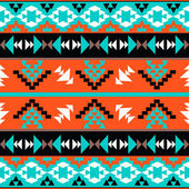 Colorful aztec pattern — Stock Vector