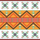 Kleurrijke Azteekse patroon — Stockvector