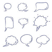 Colección de burbujas de discurso — Vector de stock