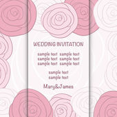 Wedding invitation card — Stock Vector
