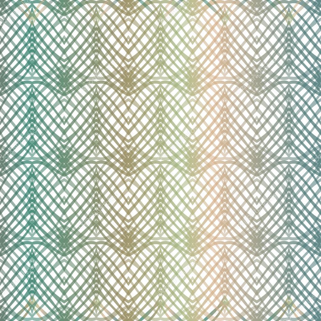 抽象的几何花边图案