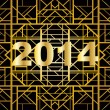 Art deco geometric pattern (1920's style) for new year 2014 — Stock Vector
