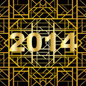 Art deco geometric pattern (1920's style) for new year 2014 — Vettoriale Stock