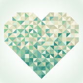 Heart in geometric style — Stock vektor
