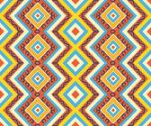 Sem costura padrão asteca colorido — Vetor de Stock