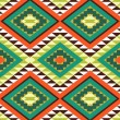 Wektor stockowy : Seamless colorful aztec pattern