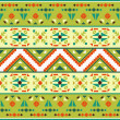 Stock Vector: Seamless colorful aztec pattern