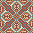 Vetorial Stock : Seamless colorful aztec pattern