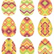 Wektor stockowy : Set of twelve easter eggs