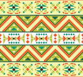 Seamless colorful aztec pattern — Stock Vector