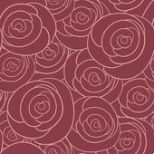 Seamless vector pattern with vintage roses — Stock Vector