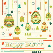 Modern Easter background, happy Easter card — Stock Vector