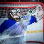 ������, ������: Hockey goalie miss the puck
