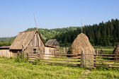 Old village in Siberia — Stock Photo