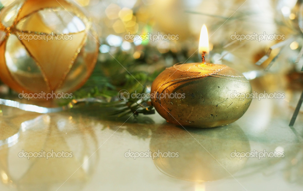 Background of Christmas decorations — Stock Photo #13849847