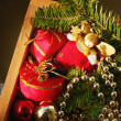 Background of Christmas decorations — Stock Photo #13955939