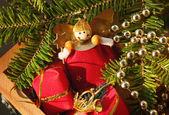 Fondo de adornos de navidad — Foto de Stock