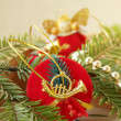 Background of Christmas decorations — Stok fotoğraf