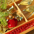 Background of Christmas decorations — Stock Photo #14286721