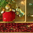 Background of Christmas decorations — Stock Photo