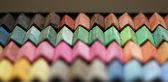 Color chalk pastels — Stock Photo