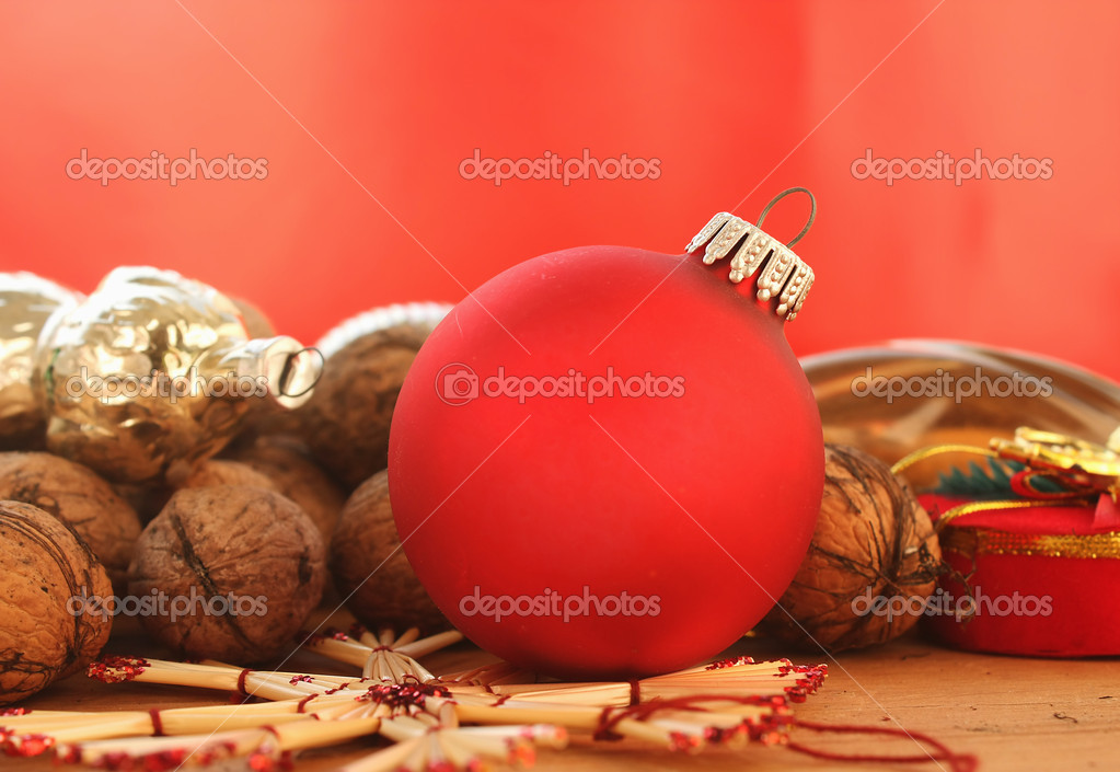 Background of Christmas decorations — Stock Photo #15755039