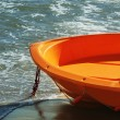 Orange lifeboat — Stock Photo