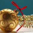 Background with Christmas decorations — Stockfoto