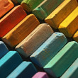 Colorful chalk pastels — Stockfoto