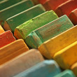 Colorful chalk pastels — ストック写真