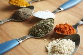Spicy spoons — Stock Photo