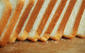 Delicious sliced bread — Stock Photo