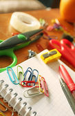 Colorful office tools — Stock Photo