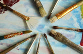 Painters brushes — Stock Photo