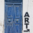 Stock Photo: Old Blue Door