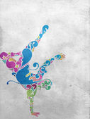 Break Dancer Flourish Background — Stock Photo