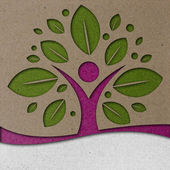 Menselijke boom papier kunst — Stockfoto
