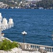 The Bosphorus from the Ciragan Palace - Stock Photo
