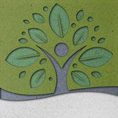Arte di carta albero umano — Foto Stock