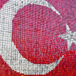 Turkish Flag with red and white glitters — Stok fotoğraf