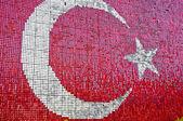 Türk bayrağı ile kırmızı ve beyaz pırıltılar — Stok fotoğraf