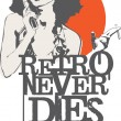 Retro Never Dies — Stockvectorbeeld