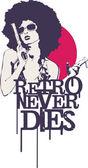 Retro Never Dies — Stock Vector